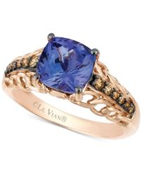 Le Vian | Tanzanite (2 Ct. T.w.) And Chocolate Diamond (1/5 Ct. T.w.) Accent Ring In 14k Rose Gold | Lyst