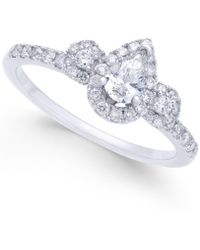 Macy's - Diamond Halo Engagement Ring (5/8 Ct. T.w.) In 14k White Gold - Lyst