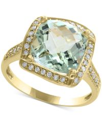 Effy Collection - Green Amethyst (4-1/3 Ct. T.w.) & Diamond (1/5 Ct. T.w.) Ring In 14k Gold - Lyst