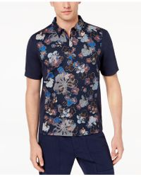 Daniel Hechter - Mix-media Floral-print Polo, Created For Macy's - Lyst