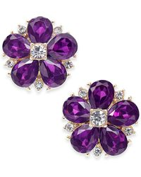Charter Club - Gold-tone Crystal & Stone Flower Stud Earrings, Created For Macy's - Lyst