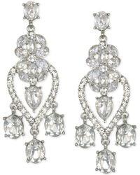 Badgley Mischka - Jewel Silver-tone Crystal Chandelier Earrings - Lyst