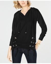 Michael Kors - Michael Lace-up Hoodie, Created For Macy's - Lyst