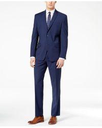 Marc New York - Classic-fit Stretch Dark Blue Tic Suit - Lyst