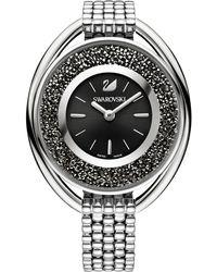 Swarovski - Women's Swiss Crystalline Crystal Accent Stainless Steel Mesh Bracelet Watch 43mm - Lyst