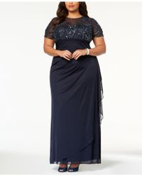 Xscape - Plus Size Embellished Empire-waist Gown - Lyst