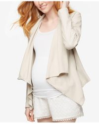 Blank NYC - Maternity Draped Faux-leather Jacket - Lyst