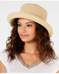 Nine West Packable Kettle Hat - Brown