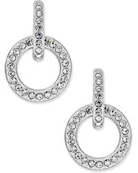 Danori - Silver-tone Pavé Open Link Drop Earrings - Lyst