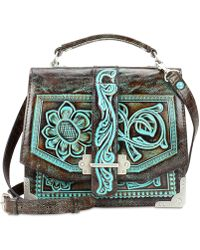 Patricia Nash - Stella Turquoise Tooled Leather Shoulder Bag - Lyst