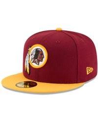 hot sale online 8d8f7 23d24 KTZ Washington Redskins State Flective Redux 59fifty Cap in Red for Men -  Lyst