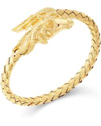 Macy's - Woven Horse Bangle Bracelet In 14k Gold Vermeil - Lyst