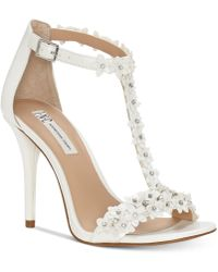 INC International Concepts - Rosiee T-strap Embellished Evening Sandals, Created For Macy's - Lyst