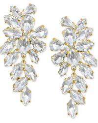 Badgley Mischka - Crystal Arch Drop Earrings - Lyst
