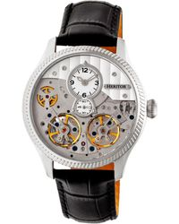 Heritor - Automatic Winthrop Silver Leather Watches 41mm - Lyst
