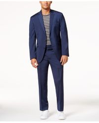 Kenneth Cole Reaction - Men's Slim-fit Navy Iridescent Suit - Lyst