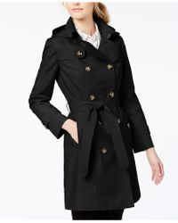 London Fog - Petite Double-breasted Trench Coat - Lyst