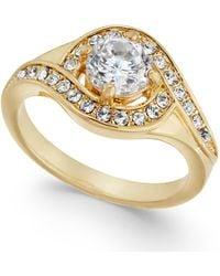 Charter Club - Gold-tone Crystal Ring - Lyst