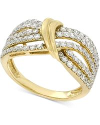 Wrapped in Love - Diamond Statement Ring (1 Ct. T.w.) In 14k Gold - Lyst