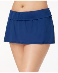 Bleu Rod Beattie - Plus Size Tummy-control Swim Skirt - Lyst