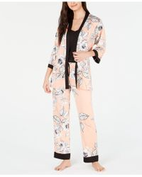 ea9657ce60 Linea Donatella - Linea Dontella 3 Pc Eden Long Pajama Set - Lyst