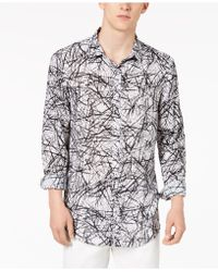 INC International Concepts - Cross-hatch Roll-tab Shirt - Lyst