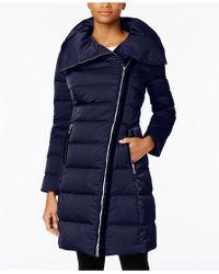 T Tahari - Brooklyn Asymmetrical Pillow-collar Puffer Coat - Lyst