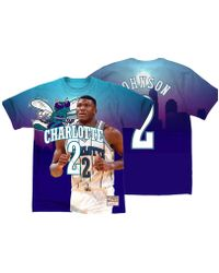 454272b46 Mitchell   Ness - Larry Johnson Charlotte Hornets City Pride Name And Number  T-shirt