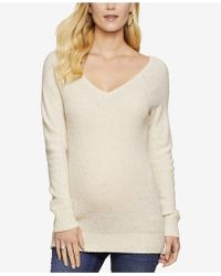 Jessica Simpson - Maternity V-neck Sweater - Lyst