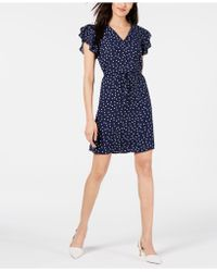 Maison Jules - Printed Ruffle-sleeve Dress, Created For Macy's - Lyst