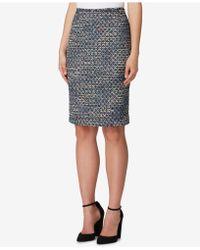 Tahari - Bouclé Sequin Pencil Skirt - Lyst