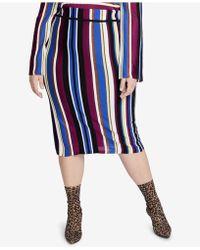 51b26115e6356 Lyst - Rachel Rachel Roy Curvy Trendy Plus Size Houndstooth Skirt in ...