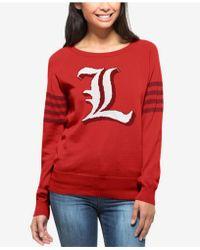 47 Brand - Women's Louisville Cardinals Ultra Drop Needle Sweater - Lyst