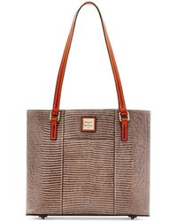 Dooney & Bourke - Lizard-embossed Leather Small Lexington Tote, Created For Macy's - Lyst