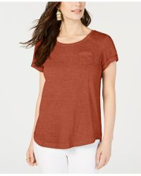 Style & Co. - Burnout T-shirt, Created For Macy's - Lyst