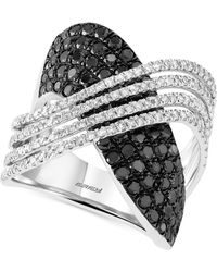 Effy Collection - Black And White Diamond (2 Ct. T.w.) Ring In 14k White Gold - Lyst