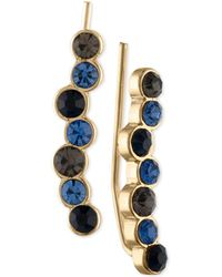 RACHEL Rachel Roy - Gold-tone Blue & Black Stone Crawler Earrings - Lyst