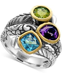 Effy Collection - Multi-gemstone (3-1/4 Ct. Tw.) Statement Ring In Sterling Silver And 18k Gold - Lyst