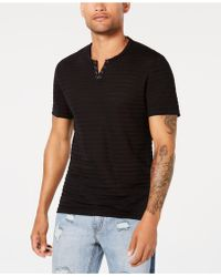 INC International Concepts - Split-neck Perforated T-shirt, Created For Macy's - Lyst