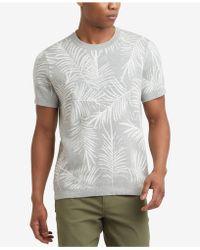 Kenneth Cole - Kenneth Cole.palm Jacquard T-shirt - Lyst