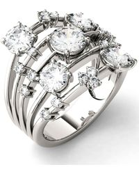 Charles & Colvard - Moissanite Galaxy Fashion Ring (3-1/8 Ct. T.w. Diamond Equivalent) In 14k White Gold - Lyst