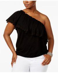 American Rag - Trendy Plus Size Asymmetrical Off-the-shoulder Top - Lyst