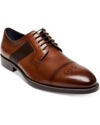 Steve Madden - Comeback Cap-toe Leather Oxfords - Lyst