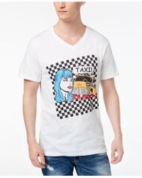 INC International Concepts - Taxi V-neck Graphic T-shirt, Created For Macy's - Lyst