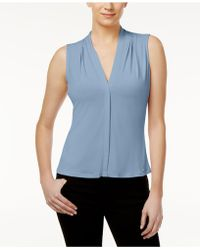 CALVIN KLEIN 205W39NYC - Pleated Blouse - Lyst