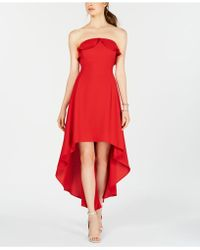 19 Cooper - Strapless High-low A-line Dress - Lyst