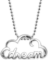 Alex Woo | Dream Cloud Pendant Necklace In Sterling Silver | Lyst
