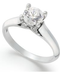 X3 - Certified Diamond Solitaire Engagement Ring In 18k White Gold (1 Ct. T.w.) - Lyst