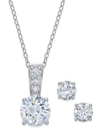 Giani Bernini - 2-pc. Set Cubic Zirconia Stud Earrings And Pendant Necklace In Sterling Silver - Lyst