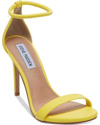 366d133a0c5 Lyst - Steve Madden Sassey Two-piece Fringe Sandals in Yellow